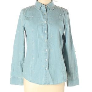 Talbots Chambray Denim NWT Button Down Top